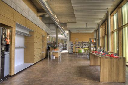 Eingangsbereich Bücherei Mediothek