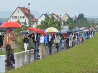 Spaziergang über den Bürgerpark von zahlreichen Teilnehmern