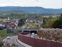 Der fertig gestellte Tunnel mit Bürgerpark