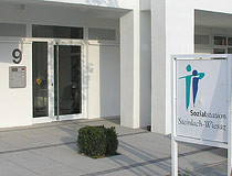 Eingangsbereich der Sozialstation Steinlach-Wiesaz in der Bahnhofstraße 9