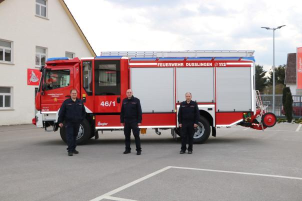 Abholung neues Feuerwehrfahrzeug HLF 20