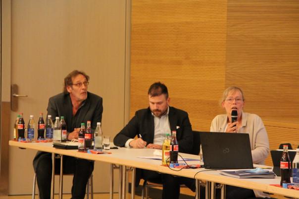 v.l.n.r. Herr Bauer, ufit Tübingen, Herr Bearzatto, Agentur für Klimaschutz, Frau Lorinser, Ingenieurbüro Lorinser